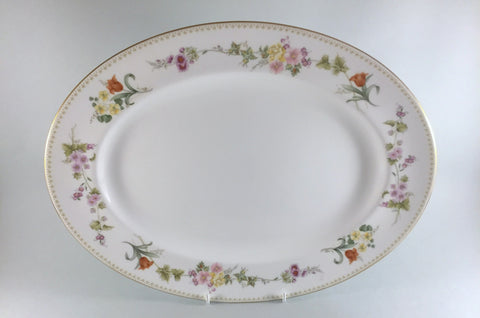"Wedgwood - Mirabelle - Oval Platter - 15 3/8"" - The China Village"
