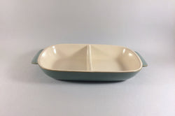 "Denby - Manor Green - Serving Dish - Divided - 11 3/4"" x 6 1/2"" - The China Village"