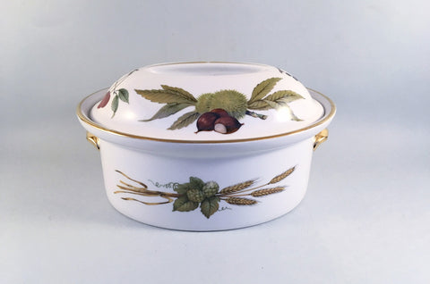 Royal Worcester - Evesham - Gold Edge - Casserole Dish - 2 1/2pt - The China Village