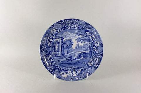 "Spode - Italian - Blue (Old Backstamp) - Breakfast Cup Saucer - 6 1/2"" - The China Village"