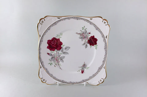 "Royal Stafford - Roses To Remember - Bread & Butter - 8 1/2"" - Square - The China Village"