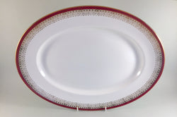 "Royal Grafton - Majestic - Red - Oval Platter - 15 3/4"" - The China Village"