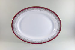 "Royal Grafton - Majestic - Red - Oval Platter - 13"" - The China Village"