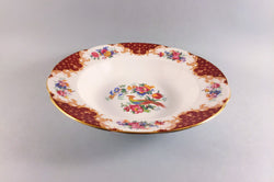 "Paragon - Rockingham - Red - Rimmed Bowl - 9 1/8"" - The China Village"