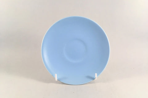 "Poole - Dove Grey & Sky Blue - Tea Saucer - 6"" - The China Village"