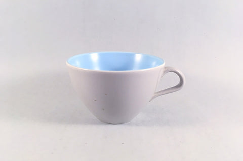 "Poole - Dove Grey & Sky Blue - Breakfast Cup - 4"" x 2 1/2"" - The China Village"