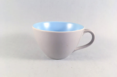 "Poole - Dove Grey & Sky Blue - Teacup - 3 5/8 x 2 1/4"" - The China Village"