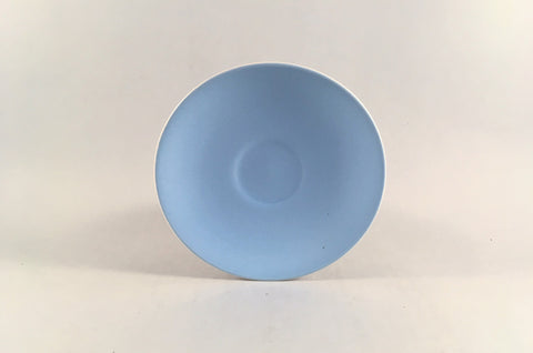 "Poole - Dove Grey & Sky Blue - Coffee Saucer - 4 3/4"" - The China Village"