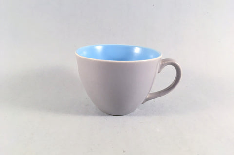 "Poole - Dove Grey & Sky Blue - Coffee Cup - 2 3/4 x 2"" - The China Village"