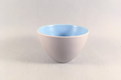 "Poole - Dove Grey & Sky Blue - Sugar Bowl - 3 7/8"" - The China Village"