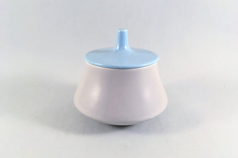 Poole - Dove Grey & Sky Blue - Sugar Bowl - Lidded - The China Village