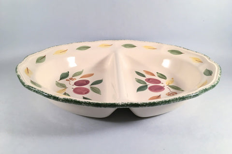 "Marks & Spencer - Damson - Serving Dish - Divided - 13 1/4"" - The China Village"