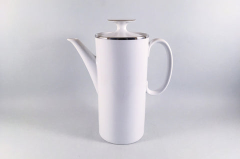 Thomas - Medaillon - Thick Silver Band - Coffee Pot - 1 3/4pt - The China Village
