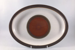 "Denby - Potters Wheel - Tan Centre - Oval Platter - 13 5/8"" - The China Village"
