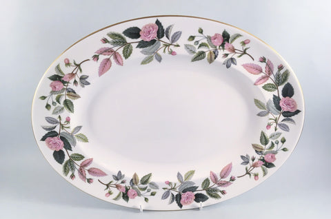 "Wedgwood - Hathaway Rose - Oval Platter - 13 3/4"" - The China Village"