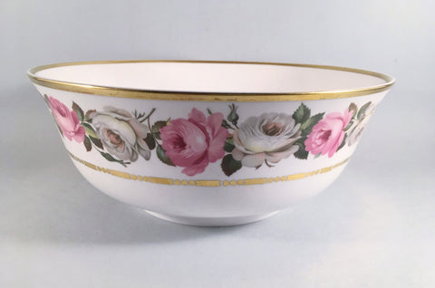 "Royal Worcester - Royal Garden - Dot & Dash Gold Line - Serving Bowl - 10"" - The China Village"