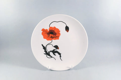 "Wedgwood - Cornpoppy - Susie Cooper - Starter Plate - 8 1/8"" - The China Village"