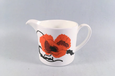 Wedgwood - Cornpoppy - Susie Cooper - Milk Jug - 1/2pt - The China Village