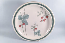 "Wedgwood - Raspberry Cane - Granada Shape - Dinner Plate - 10 5/8"" - The China Village"