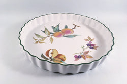 "Royal Worcester - Evesham Vale - Flan Dish - 10 3/8"" (Apple, Blackberries & Peach) - The China Village"