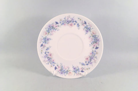 "Wedgwood - Angela - Plain Edge - Soup Cup Saucer / Sauce Boat Stand - 7"" - The China Village"