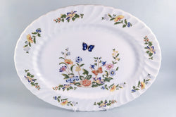 "Aynsley - Cottage Garden - Swirl Shape - Oval Platter - 13 1/2"" - The China Village"