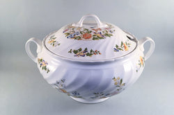 Aynsley - Cottage Garden - Swirl Shape - Soup Tureen - The China Village