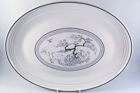 "Royal Doulton - Asian Dawn - Oval Platter - 16 1/2"" - The China Village"