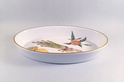 "Royal Worcester - Evesham - Gold Edge - Serving Dish - 10 1/2"" - The China Village"