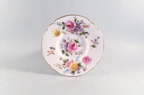 "Royal Crown Derby - Derby Posies - Green Backstamp - Coffee Saucer - 4 3/4"" - The China Village"