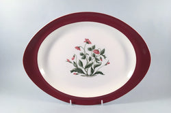 "Wedgwood - Mayfield - Ruby - Oval Platter - 13"" - The China Village"