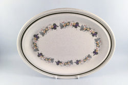 "Royal Doulton - Harvest Garland - Thick Line - Oval Platter - 13 1/2"" - The China Village"