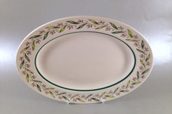 "Royal Doulton - Almond Willow - Oval Platter - 13"" - The China Village"