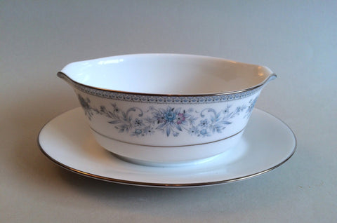Noritake - Blue Hill - Sauce Boat & Stand (Fixed) - The China Village