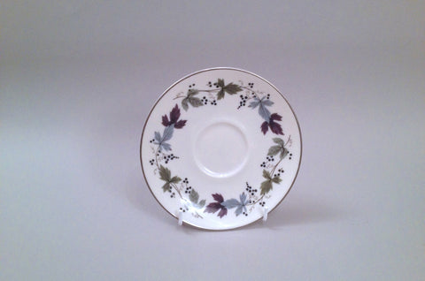 "Royal Doulton - Burgundy - Tea / Soup Cup Saucer - 6 1/8"" - The China Village"