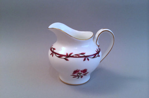 Minton - Carmine - Milk Jug - 1/2pt - The China Village