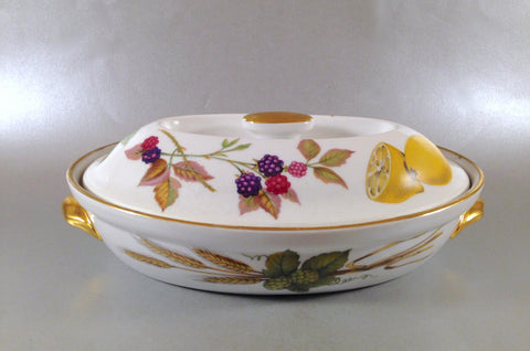 Royal Worcester - Evesham - Gold Edge - Casserole Dish - 1pt - The China Village