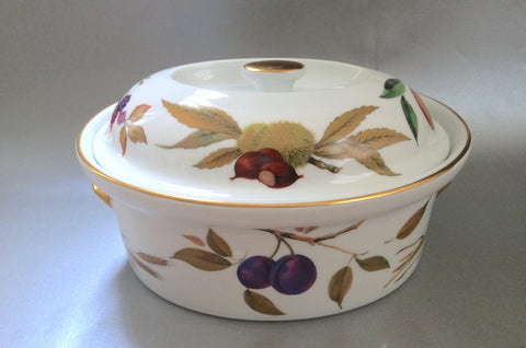Royal Worcester - Evesham - Gold Edge - Casserole Dish - 4pt - The China Village