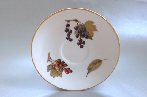 "Royal Worcester - Evesham - Gold Edge - Tea Saucer - 6"" (Redcurrants & Blackcurrants) - The China Village"