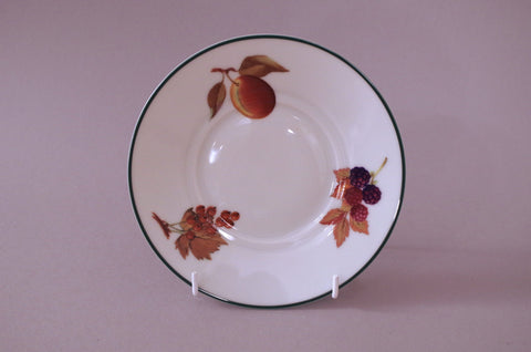 "Royal Worcester - Evesham Vale - Tea Saucer - 6 3/8"" (Red Plum, Redcurrants, Blackberries) - The China Village"
