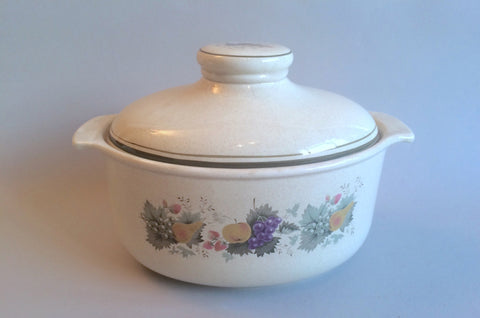 Royal Doulton - Harvest Garland - Thick Line - Casserole Dish - 3 1/2pt - Oval - The China Village