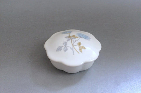 "Wedgwood - Ice Rose - Trinket Box - Fluted - 3 1/4"" - The China Village"