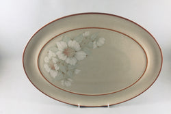 "Denby - Daybreak - Oval Platter - 14 5/8"" - New Style, Orange Rim - The China Village"