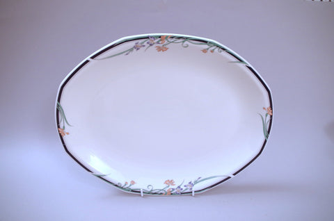 "Royal Doulton - Juno - Oval Platter - 16"" - The China Village"