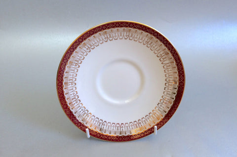 "Royal Grafton - Majestic - Red - Soup Cup Saucer - 6"" - The China Village"