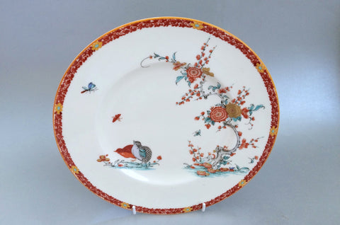 Royal Worcester - Old Bow - Rust Border - Breakfast Plate - 9 1/4""