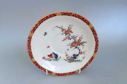 "Royal Worcester - Old Bow - Rust Border - Saucer - 6 3/8"" - The China Village"