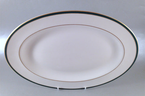 "Royal Doulton - Oxford Green - Oval Platter - 16"" - The China Village"