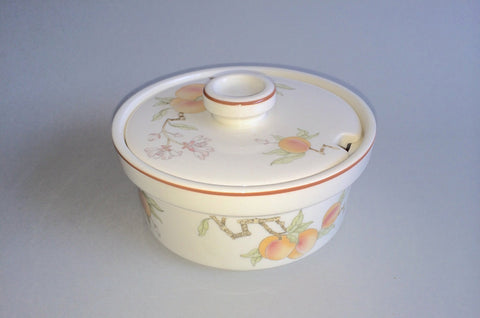 Wedgwood - Peach - Sterling Shape - Lidded Sugar Bowl - The China Village
