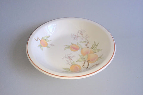 "Wedgwood - Peach - Sterling Shape - Rimmed Bowl - 7 1/4"" - The China Village"